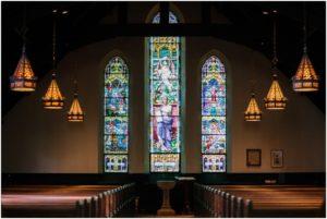 Illuminated stained glass