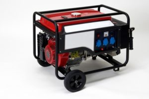 Red portable electric generator