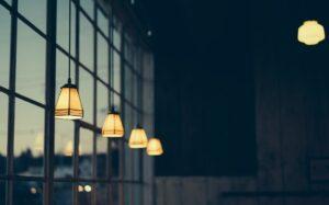 Lighting lamps hanging