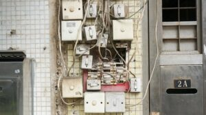 Dirty, broken, and lose electrical outlet boxes