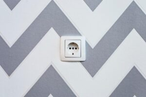 An electrical wall socket