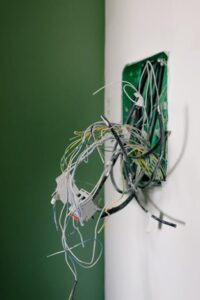 Electrical wires jumbled
